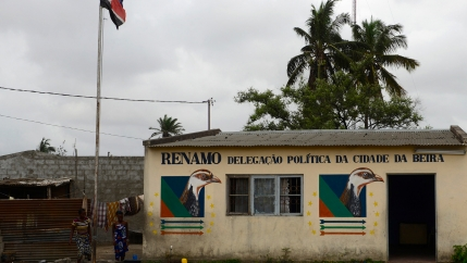 The abandoned headquarters of Mozambican opposition party Renamo is pictured in the port city of Beira, ahead of local government elections, Nov. 19, 2013.