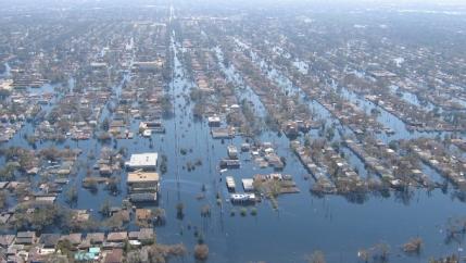 Hurricane Katrina aerial view