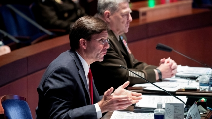 Pentagon officials speak at a hearing