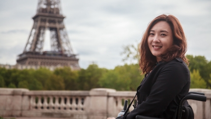 Hong Seo-yoon says travel is a great way to bring down barriers between people with disabilities and the nondisabled.