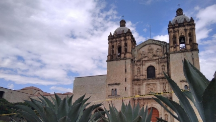 Oaxaca's landmark Santo Domingo church and the former convent that houses the state's largest museum have been cordoned off as part of pandemic mitigation measures.