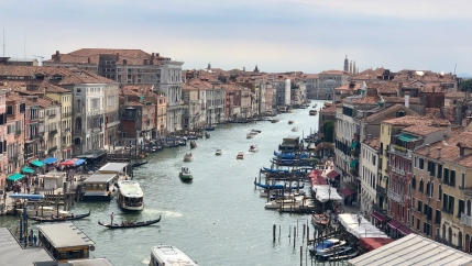 Venice's Grand Canal was for centuries a thoroughfare for the global shipping trade on the ancient Silk Road.