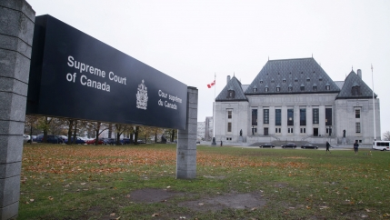 The Supreme Court of Canada is seen in Ottawa, Ontario, Canada, Nov.4, 2019.