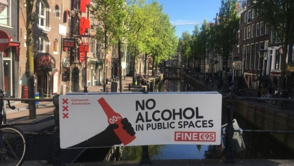 Amsterdam's Red Light District remains sparse as many international tourists have stayed away during the pandemic.