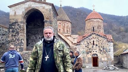 Father Hovhannes Hovhanissyan, abbot of Dadivank monastery in Kelbajar