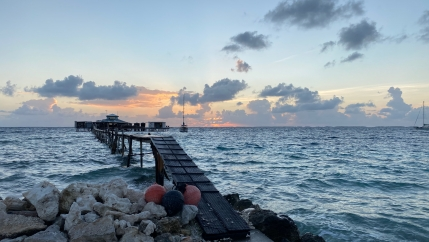 The sun sets on Kamoka Pearl Farm, located on the Ahe Atoll, about 300 miles away from French Polynesia's main island, Tahiti. Owner Josh Humbert says that being environmentally has always been important at this small, family-run pearl production operatio