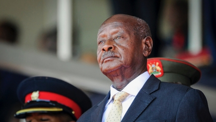 Uganda's President Yoweri Museveni attends the state funeral of Kenya's former president Daniel Arap Moi in Nairobi, Kenya. Despite failing to dislodge the long-time leader Museveni, opposition challenger Bobi Wine has emerged from Uganda's Jan. 14, 2021,