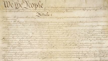 The US Constitution's first page
