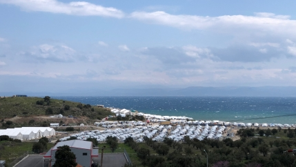 The Aegean Sea is shown from Lesbos. Increasingly, migrants and advocates claim, Greek authorities are illegally pushing back to Turkey people who are making the journey to Greece in the Aegean Sea.