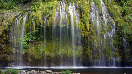 "Mossbrae Falls in the Shasta Cascade area in Dunsmuir, California. In many spiritual traditions, like the Lakota in the US, water represents ""the living relationship between you and I and all things."