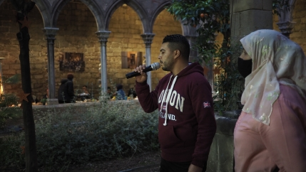 A Catholic church in Barcelona's Old City is opening its doors to Muslims during Ramadan for the nightly iftar meal.