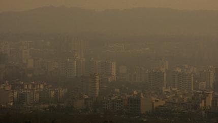 Air pollution in Tehran onTuesday, Dec. 4, 2012.