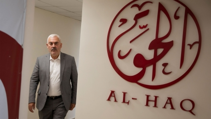 Shawan Jabarin, director of the al-Haq human rights group, at the organization's offices in the West Bank city of Ramallah
