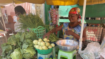 Yaa Asantewaa laments how farmers affected by climate change lead to a scarcity of vegetables at higher costs.