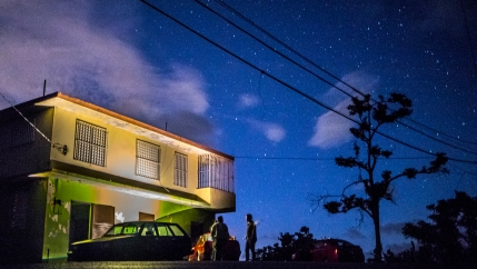 On Wednesday, the entire Island of Puerto Rico lost power. But before Wednesday's outage, after nearly eight months post-Hurricane Maria, 11 percent of the island was still living in darkness — including this apartment building in Coamo.`