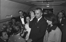Swearing in of Lyndon B. Johnson as President