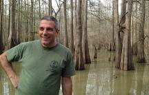 Dean Wilson in a swamp