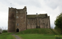 The main entrance to Castle Doune
