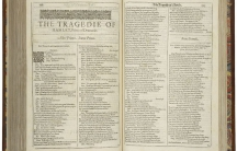 The first page of Shakespeare's Hamlet, printed in the First Folio of 1623. (Folger Shakespeare Library Digital Image)