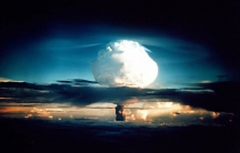 """The US detonates """"Mike,"""" the first hydrogen bomb, on Nov. 1, 1952."""