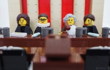 The Supreme Court Justice minifigures