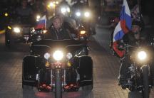 Russian Prime Minister Putin rides with motorcycle enthusiasts during his visit to a bike festival in the southern Russian city of Novorossiisk. (Photo: Alexsey Druginyn/RIA Novosti/Pool/ Reuters)