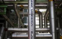 Gas pipes at Mexico's Pemex