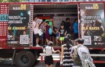 Shenzhen Maker Faire mobile display