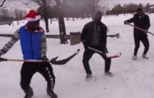 Shovellers dance in Montreal.