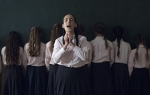 "A still from Victoria Hanna's video ""Aleph-bet (Hosha'ana)."""