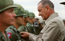 Visit of President Johnson in Vietnam