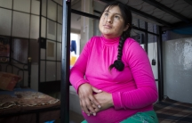 Ana María Bolege, nine months pregnant in Peru