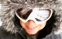 Andrea's snow selfie