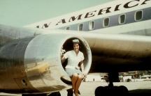 A PanAm jet and flight attendant