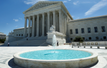 The building of the US Supreme Court is seen in Washington, DC, June 26, 2017. A recent study shows that three-forths of respondents back a constitutional amendment outlawing the Citizens United decision.