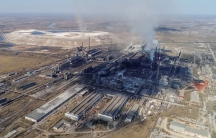 An aerial view shows the Rusal Achinsk Alumina Refinery, near the Siberian town of Achinsk, Krasnoyarsk region, Russia, April 29, 2018.