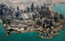 An aerial view of Doha's diplomatic area March 21, 2013.
