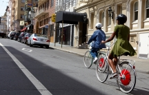 "The ""Copenhagen Wheel"" is designed to help give riders a boost up steep hills like in San Francisco. Cyclists still have to pedal to get the extra thrust."
