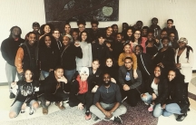 Members of the Black Student Union at Cambridge Rindge and Latin School.