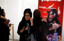 Saudi women attend the opening of a cinema at Riyadh Park mall, in Riyadh, Saudi Arabia April 30, 2018.