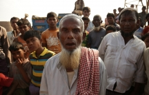 An elderly Rohingya man in the Kutapalong camp in Bangladesh.