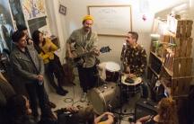 Daniel, Me Estás Matando performs on a Monday night in David Aguilar's Mexico City apartment.