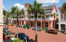 Shops, offices and apartments on Market Street in Celebration, Florida.