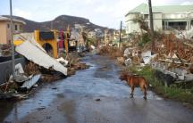 Devastation form Hurricane Irma in Sint Maarten.