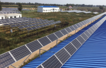 a solar panel farm in China