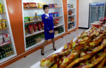 a new store openes in North Korea