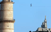a tightrope walker in France