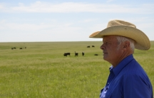 Kenny Fox at his cattle ranch in Belvidere, South Dakota. Fox, who is a third-generation South Dakota rancher, would like his sons to be able to continue in his footsteps, but worries that the economics are making it too difficult.