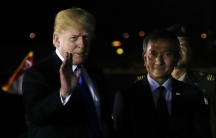 US President Donald Trump and Singapore's Foreign Minister Vivian Balakrishnan