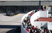 Migrants reaching border